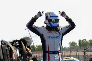 Victory for Vainio. © Malcolm Griffiths/GP3 Media Service.