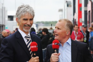 Herbert (right) with former rival and Sky Sport F1 colleague, Damon Hill. © Sky Sports F1.