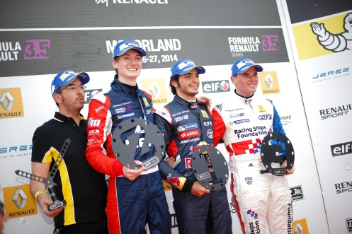 A delighted race one podium. © WSR (Jean Michel Le Meur / DPPI)
