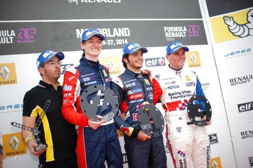 A delighted race one podium. © WSR (Jean Michel Le Meur / DPPI)
