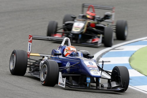 Jones raced to two podiums in Hockenheim. © FIA F3.