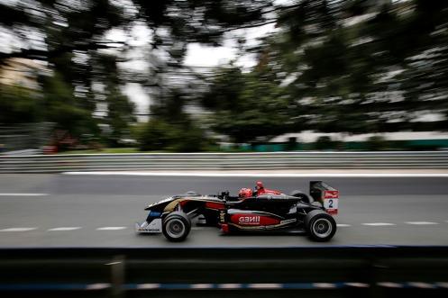 Ocon won the Pau F3 opener. © FIA