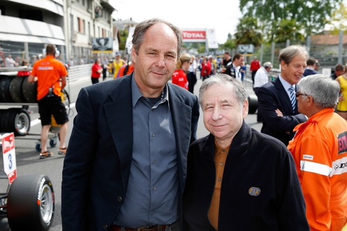 FIA President Jean Todt visited with FIA Single-Seater Commission President Gerhard Berger. © FIA.