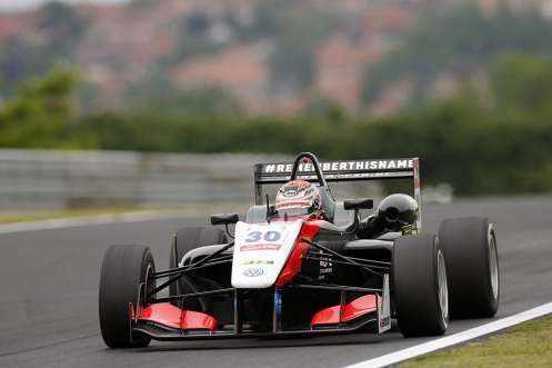 Verstappen last raced at the Hungaroring prior to the Monza F3 test. © FIA F3 Media Services.