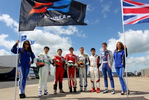 A small British F3 field raced at Silverstone last month. © Jacob Ebrey.