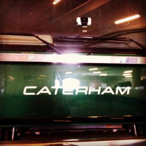 All change at Caterham. © Leigh O'Gorman.
