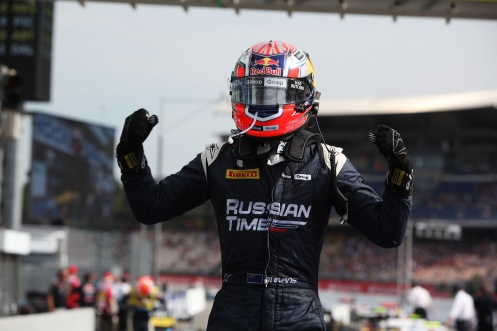 Victory in Germany for Mitch Evans. © Sam Bloxham/GP2 Series Media Service.