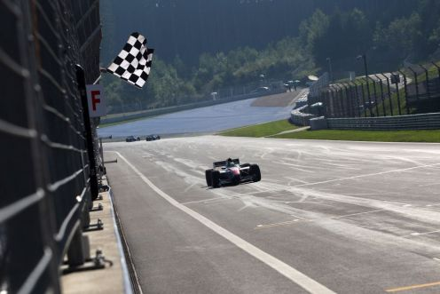 Sato won in Austria. © Auto GP Organisation.