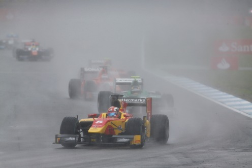 Coletti took the 201st in dramatic style. © Sam Bloxham/GP2 Series Media Service.