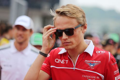 ...while Chilton is on the sidelines. © Marussia F1 Team