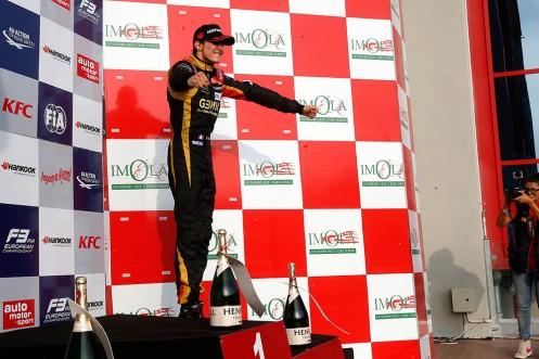 A podium was enough for Ocon to secure the FIA F3 title. © FIA F3 Media.
