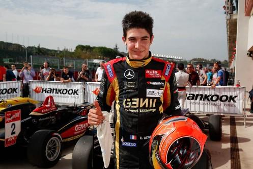 Ocon won the EUropean F3 championship this year. © FIA F3 Media Services.