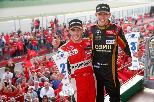 Prema Powerteam enjoyed success in F3 with Antonio Fuoco (left) and Esteban Ocon (right) this year. © FIA F3 Media Services.