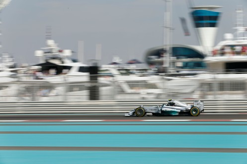 Rosberg has pole for the season finale. © MERCEDES AMG PETRONAS Formula One Team
