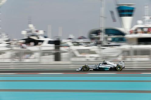 Rosberg has pole for the season finale. © MERCEDES AMG PETRONAS Formula One Team