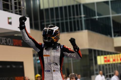 Vandoorne won again in Abu Dhabi. © Sam Bloxham/GP2 Series Media Service.