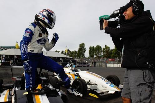 Kruger confirmed as final British Formula Ford champion. © MSA.