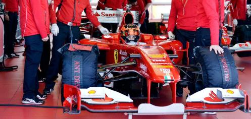 Ocon tested for Ferrari this week. © Scuderia Ferrari
