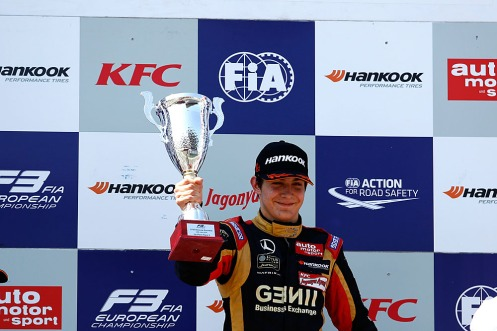 Ocon took the European F3 title early. © FIA F3 Media services.