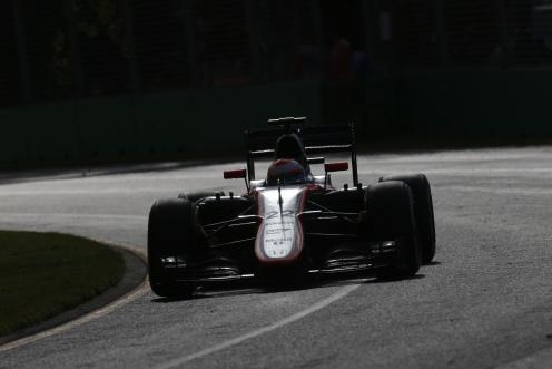 """Button got to race end in Melbourne."" © McLaren-Honda Formula 1 Team."