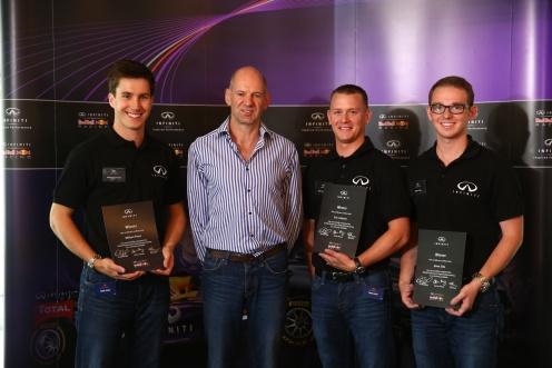 Last year's winners of the Infiniti Performance Engineering Academy with Adrian Newey. © Infiniti EMEA
