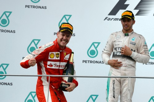 Vettel was victorious in Malaysia. ©FOTO STUDIO COLOMBO