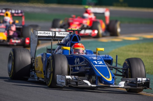 """Nasr headed Ricciardo and Raikkonen during the Australian Grand Prix."" © Sauber Motorsport AG"