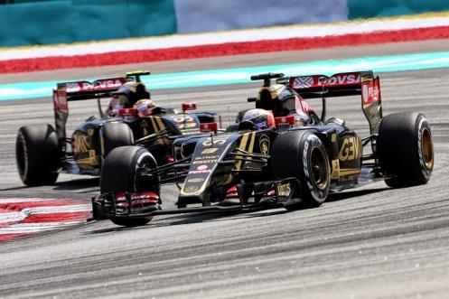 Grosjean led the Lotus charge in Malaysia. © Lotus F1 Team.