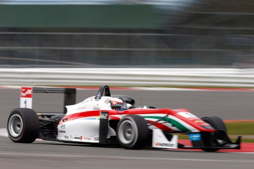 Rosenqvist wins Race 1 at Silverstone. © FIA F3 Media Services.