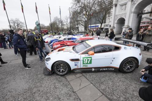 The #97 Turner/Mücke Aston Martin was one of a number of cars on display in London last week. © Jeff Carter.