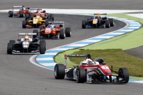 Rosenqvist led the field throughout. © FIA F3 Media Services.