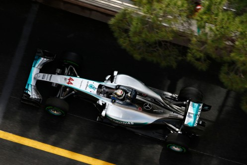 Hamilton was out on his own at Monaco all weekend. © Mercedes AMG PETRONAS F1 Team