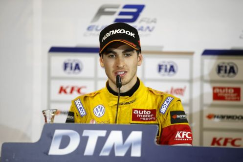 Press conference, 3 Antonio Giovinazzi (ITA, Jagonya Ayam with Carlin, Dallara F312 - Volkswagen), FIA Formula 3 European Championship, round 6, race 1, Norisring (GER) - 26. - 28. June 2015 *** Local Caption *** Copyright (c) FIA Formula 3 European Championship / Thomas Suer