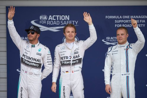 Rosberg took pole in Japan. © MERCEDES AMG F1 TEAM